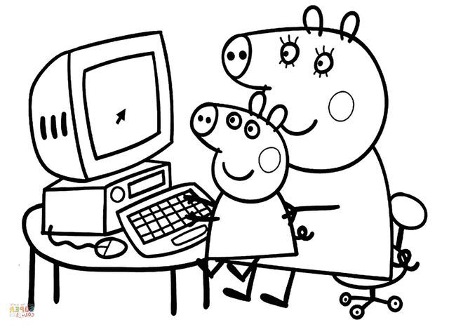 The Best Free Peppa Coloring Page Images Download From 738