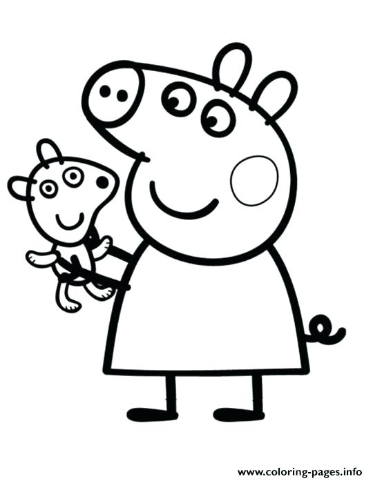 540x697 Free Peppa Pig Cartoons Also E Pig Coloring Pages Pretty Pig