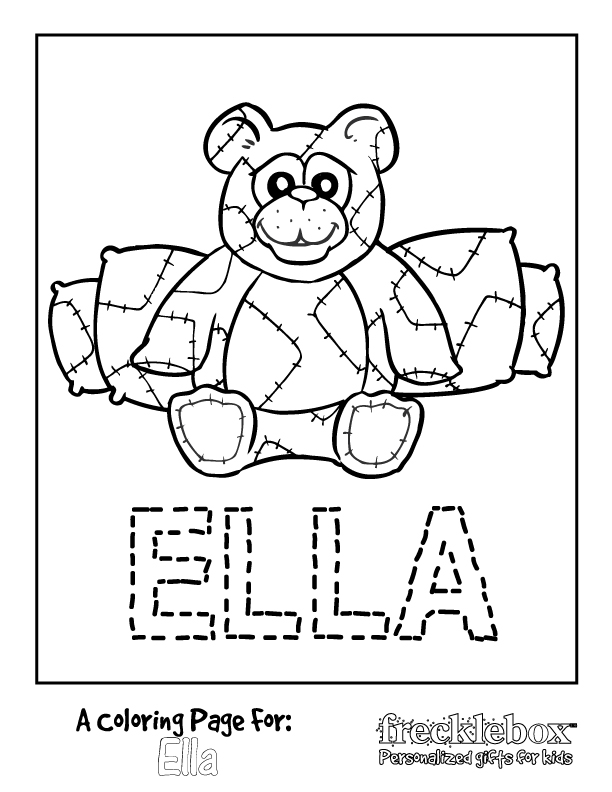 612x792 Personalized Coloring Pages Personalized Coloring Pages And Free