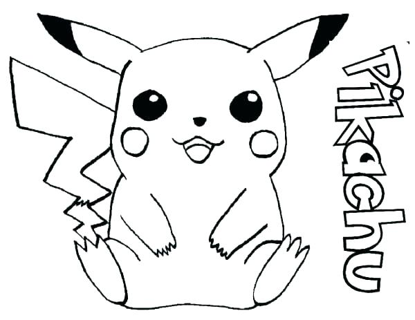 600x463 Pikachu Coloring Page Coloring Pages Cute Pikachu Coloring Pages