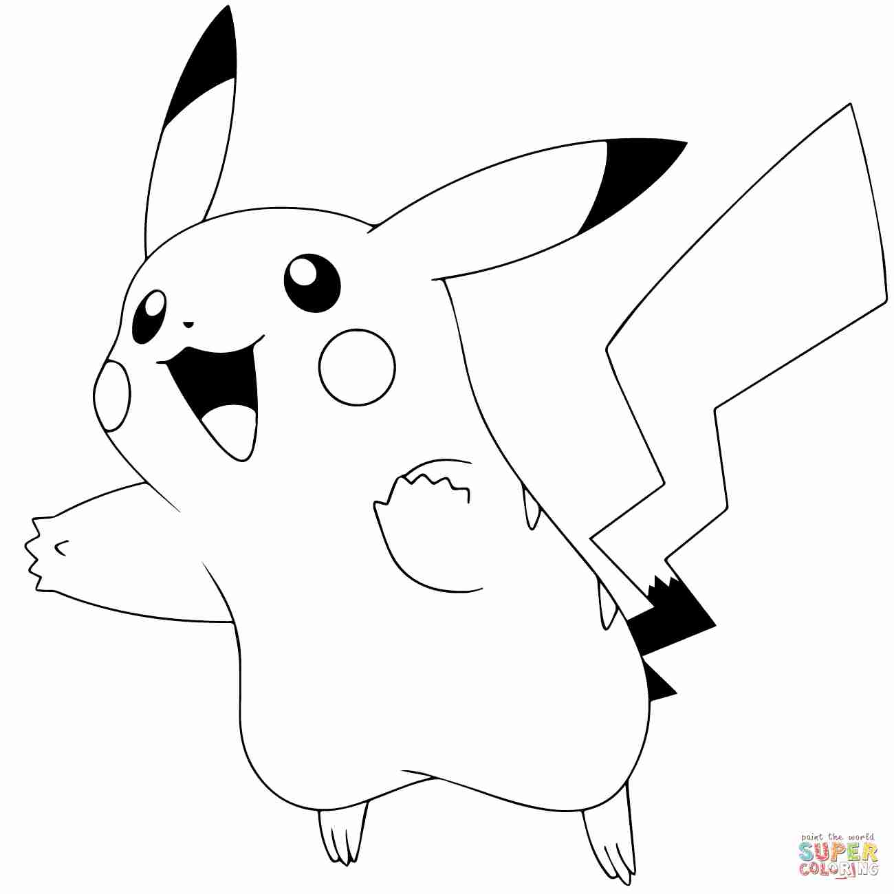 1300x1300 Pikachu Coloring Page Free Printable Pages Exceptional Of Olegratiy