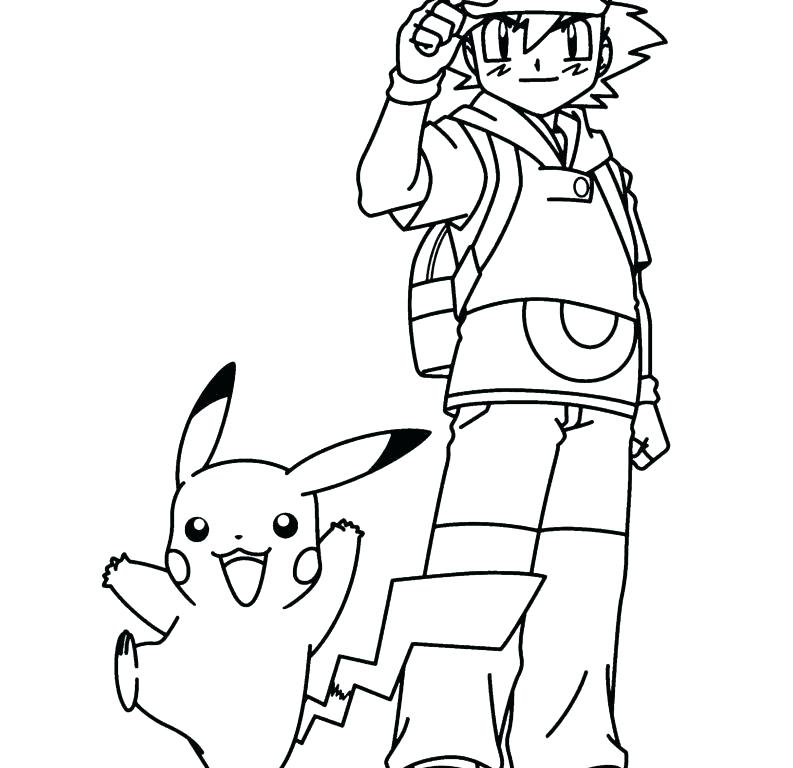 793x768 Pikachu Coloring Pages Free Coloring Pages Terrific Ash
