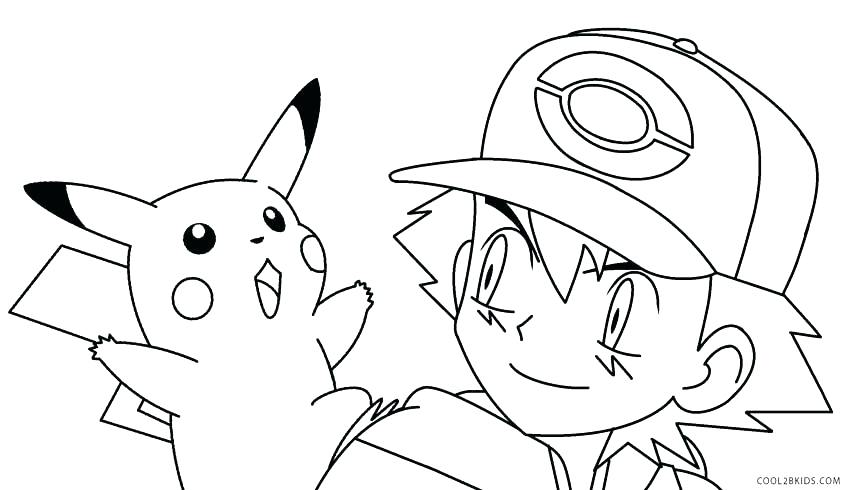 850x490 Coloring Pages Of Pikachu Coloring Pages Wearing Hat Pokemon