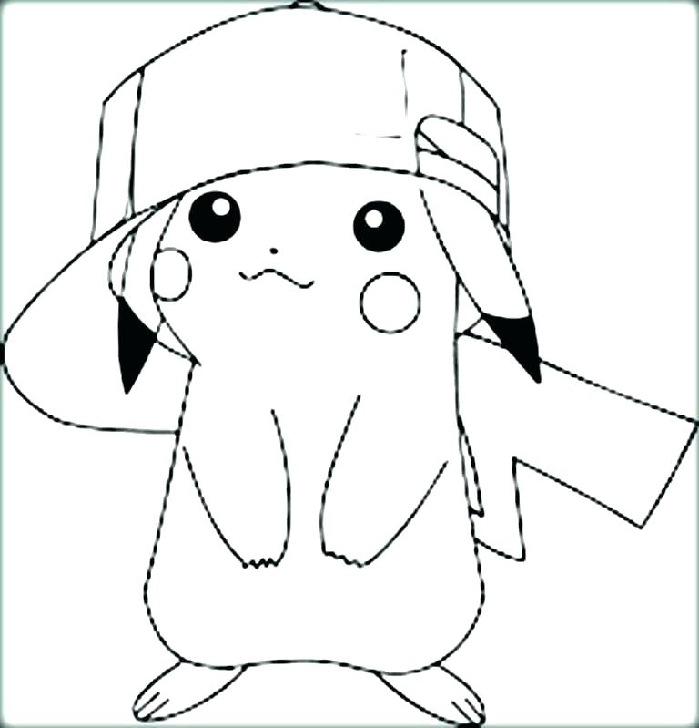 768x799 Pikachu Coloring Page