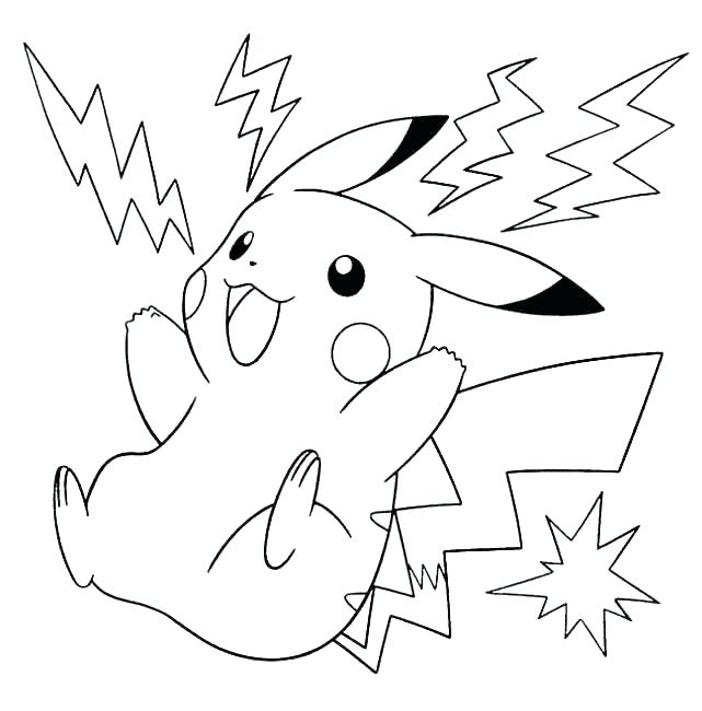 641x650 Pikachu Coloring Pages