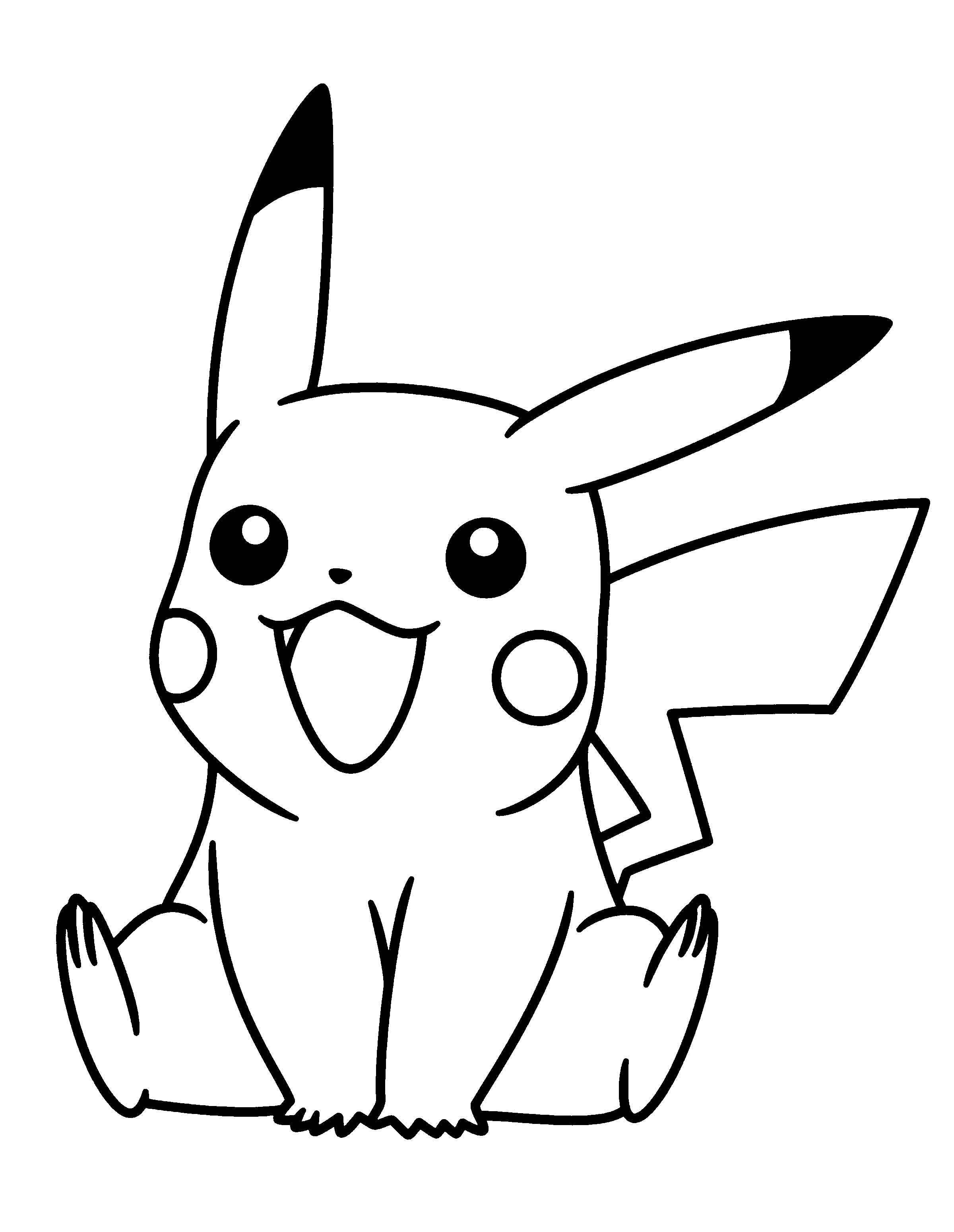 2400x3100 Download Or Print The Free Little Pikachu Coloring Page And Find
