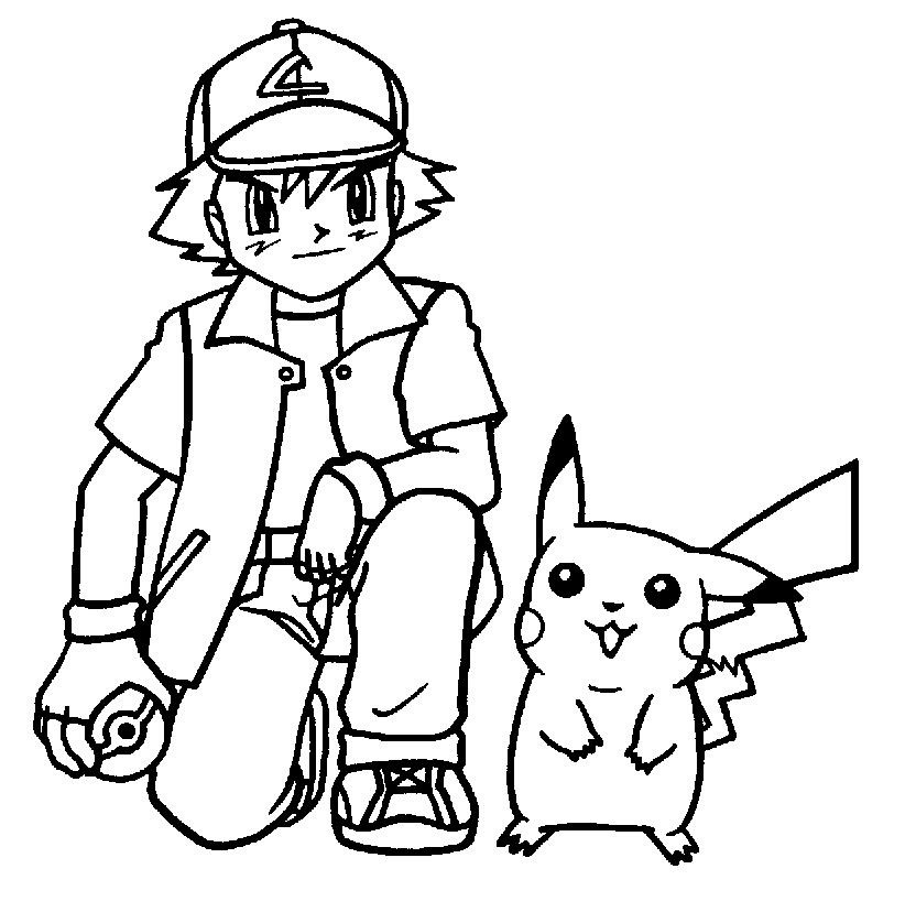 832x838 Free Printable Pikachu Coloring Pages For Kids