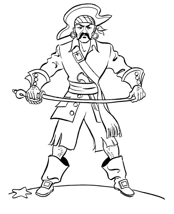 670x820 Pirate Coloring Pages