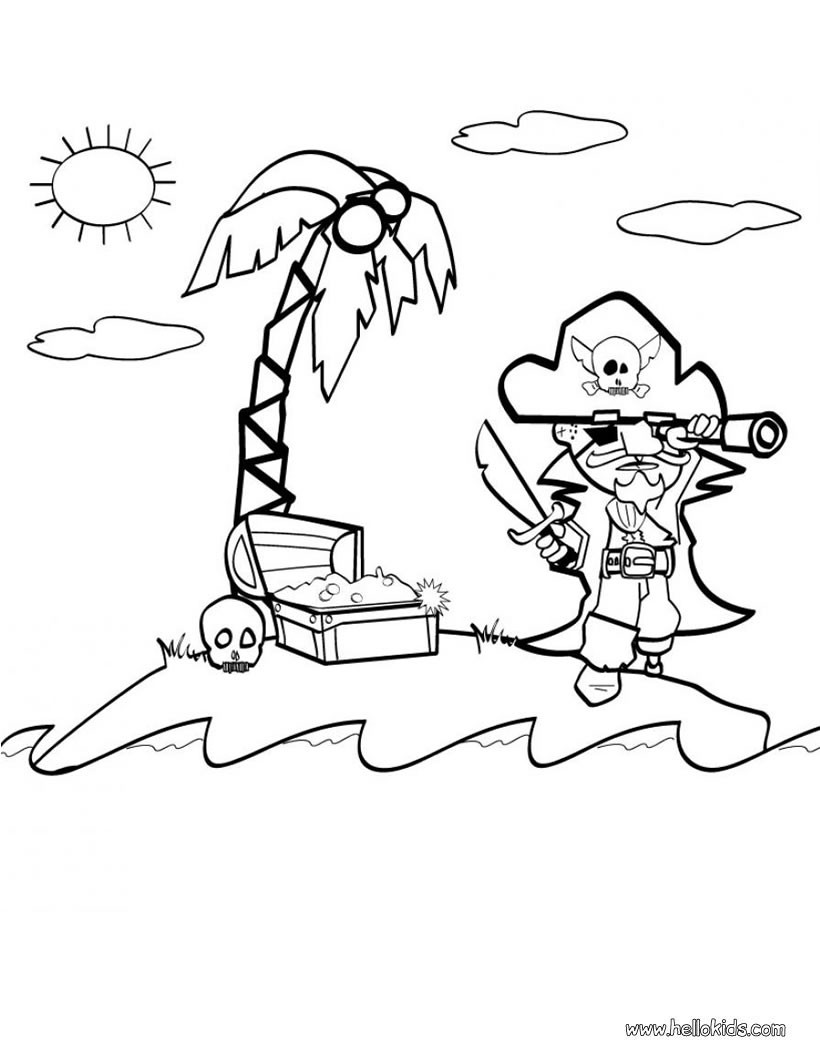 820x1060 Pirate Coloring Pages