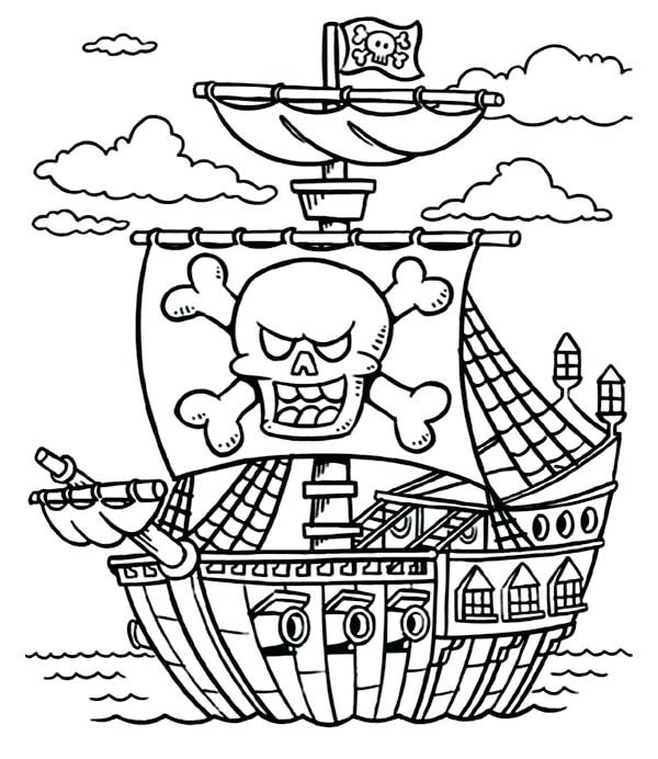 600x692 Pirates Colouring Pages Pirate Color Page Davidparkerco Free
