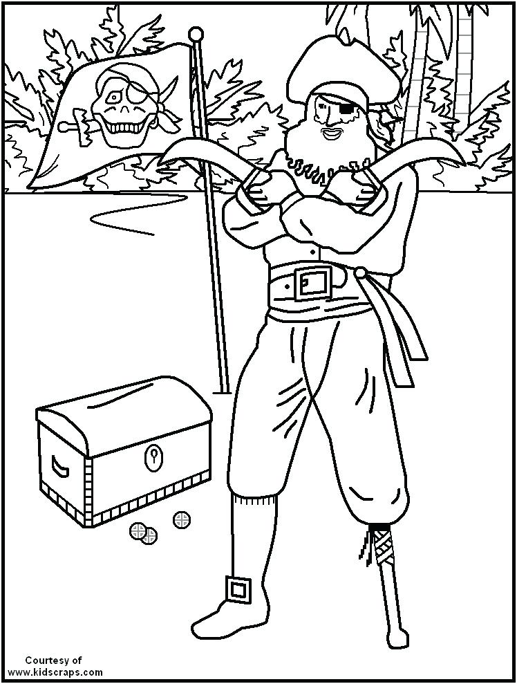 748x989 Pirate Coloring Page