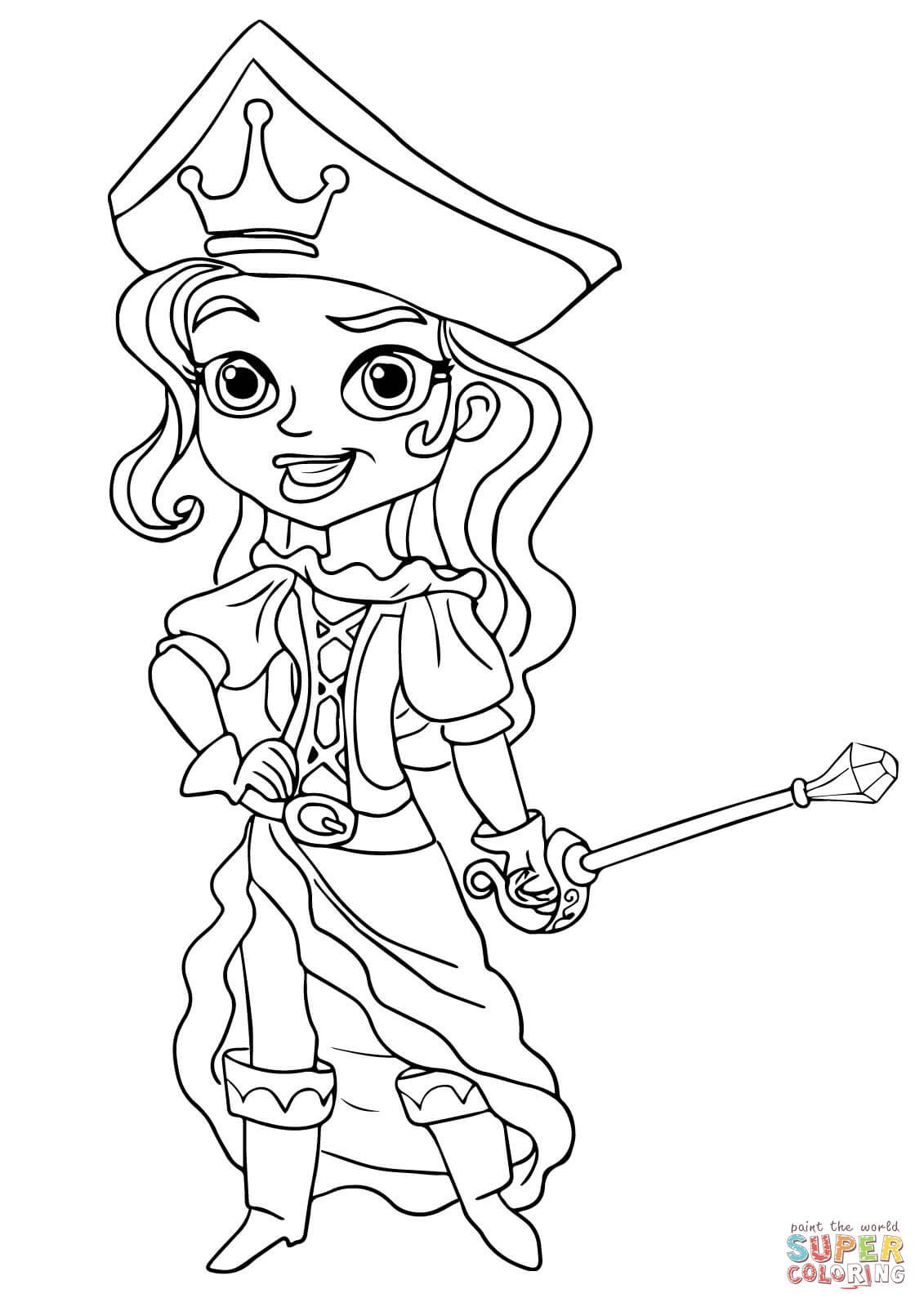 1131x1600 The Pirate Princess Coloring Page Free Printable Coloring Pages