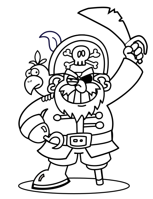 500x649 Free Printable Doodle Art Of Pirates Pirates Coloring Pages