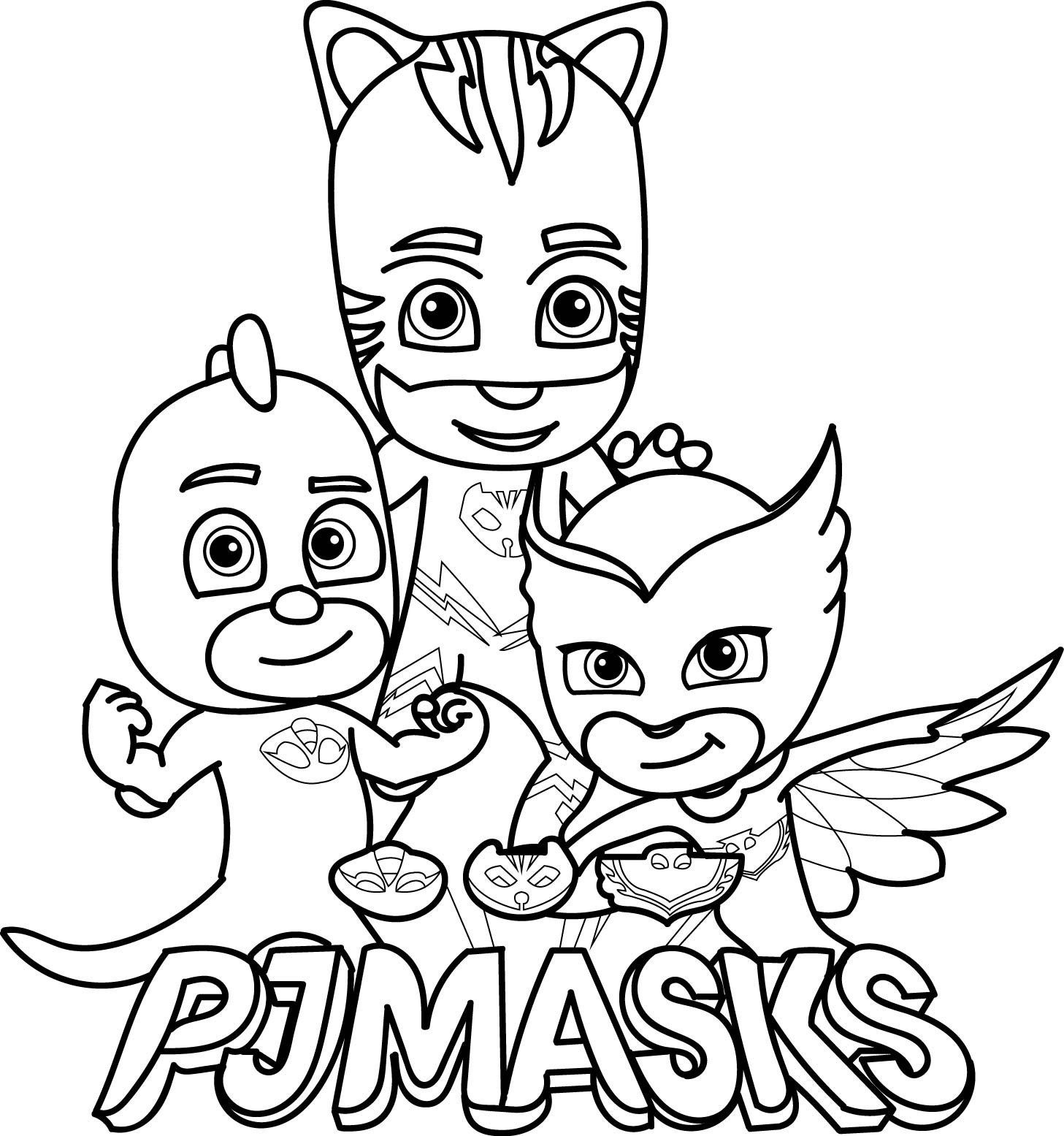 Free Pj Masks Coloring Pages At Getdrawings Com Free For Personal
