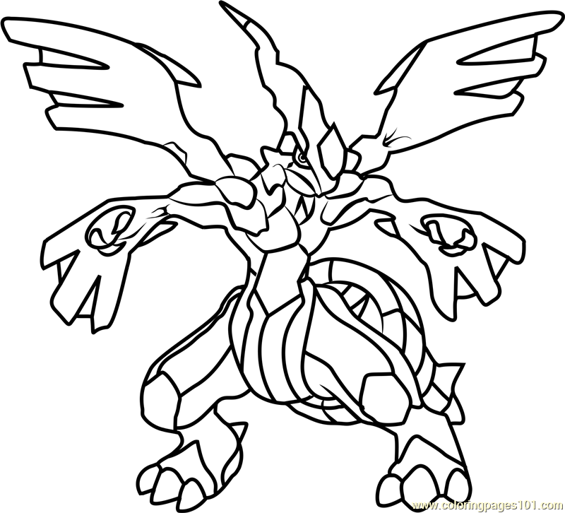 800x726 Zekrom Pokemon Coloring Page