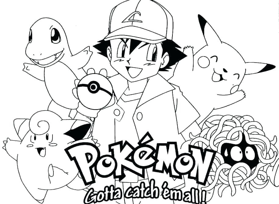 914x668 Free Pokemon Coloring Pages Black And White