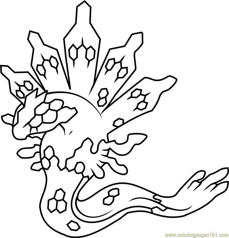 770x800 Zygarde Pokemon Coloring Page