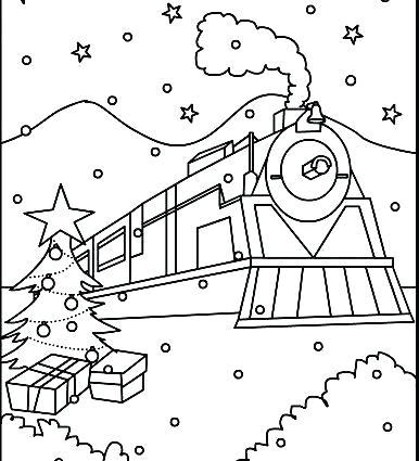 386x425 Polar Express Color Sheets Polar Express Train Coloring Pages