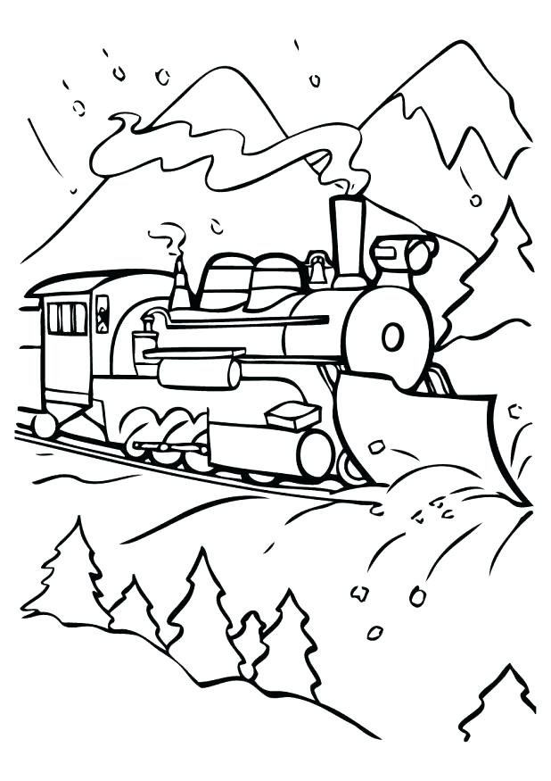 618x875 Polar Express Coloring Page The Polar Express Coloring Pages
