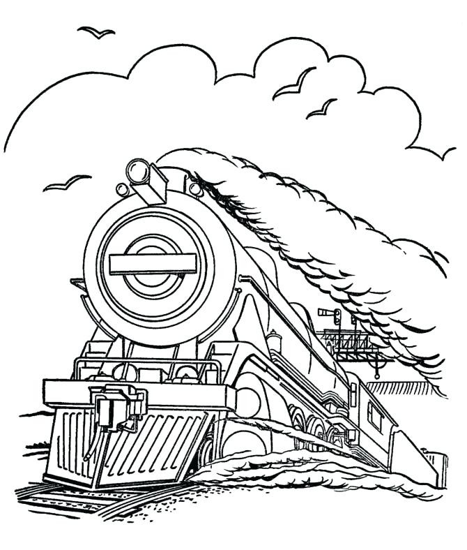 670x788 Polar Express Coloring Pages Free Train Colouring Sheets