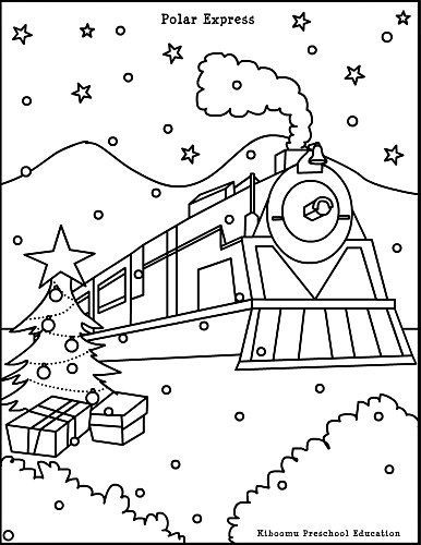 386x500 Free Coloring Pages Pictures Polar Train Express Polar Express