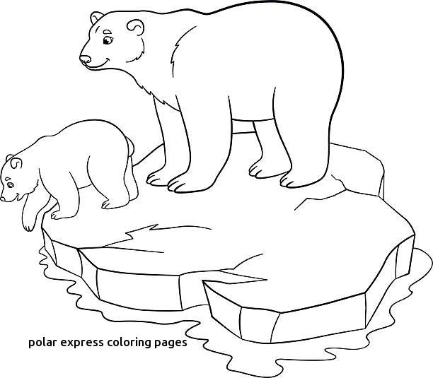 612x535 Royalty Free Baby Polar Bear Clip Art Vector For Polar Express