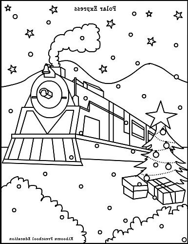 386x500 The Best Polar Express Coloring Sheets Free