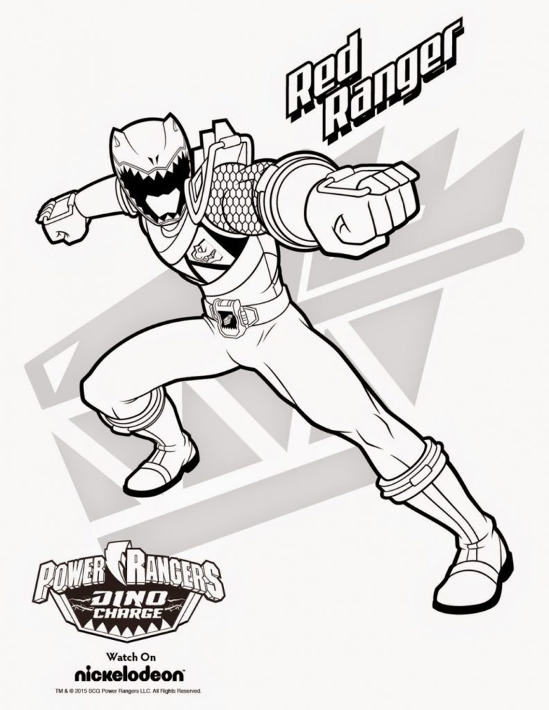 Free Power Ranger Coloring Pages