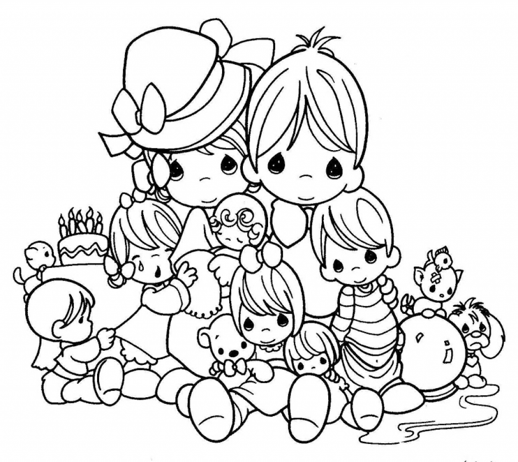 1024x914 Free Printable Precious Moments Coloring Pages For Kids Within