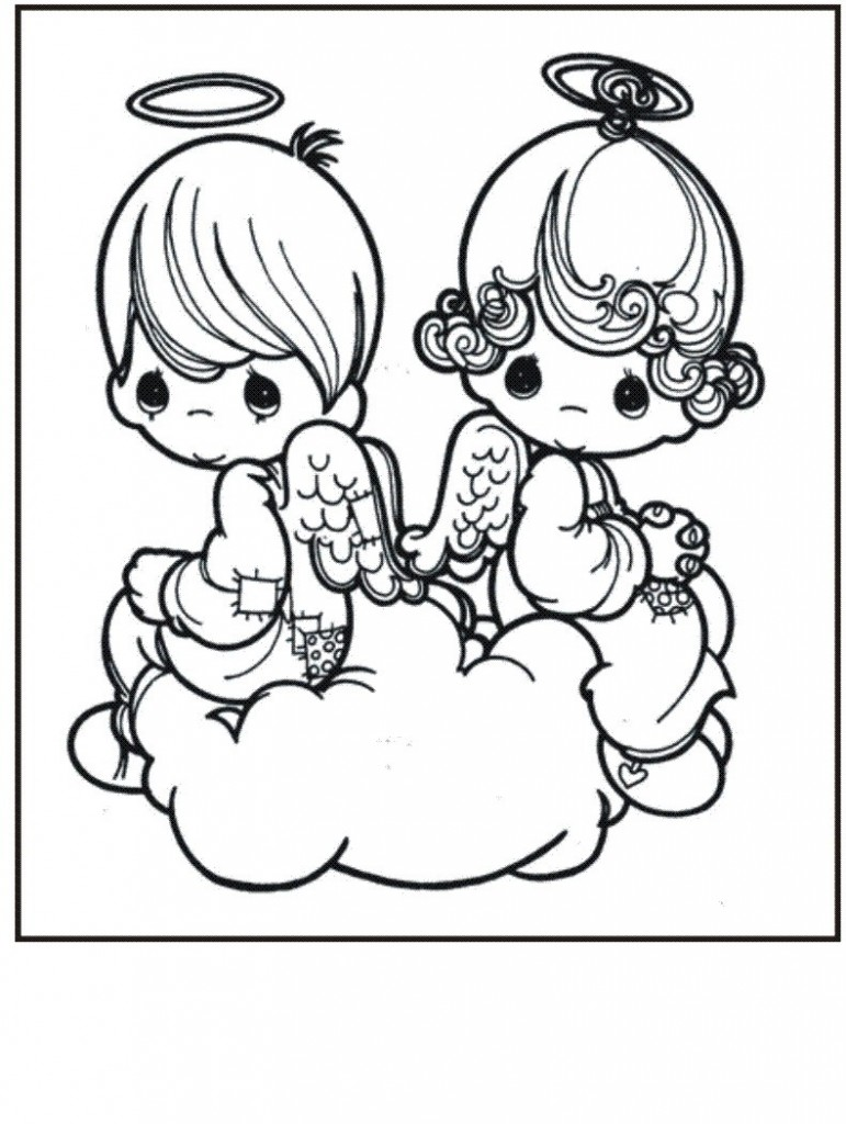 771x1024 Nice Pictures Of Angels To Color Preschool To Snazzy Free