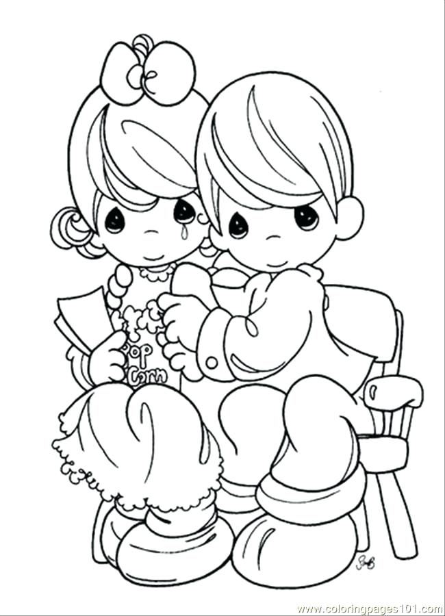 650x900 Precious Moments Boy And Girl Coloring Pages