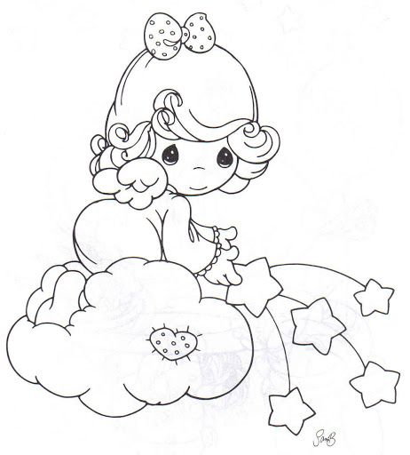 462x512 Precious Moments Coloring Pages