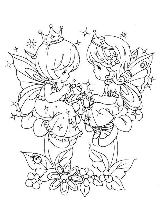 550x770 Precious Moments Friends Coloring Pages