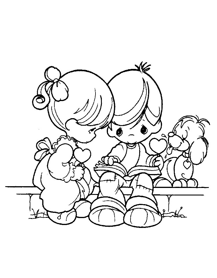 750x960 Best Precious Moments Coloring Pages To Print For Free
