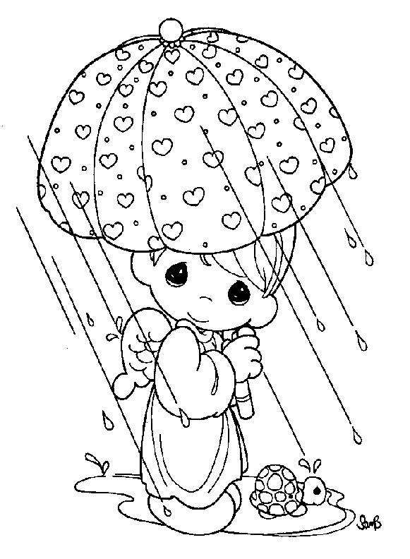 581x792 Best Free Precious Moments Coloring Pages Free Printable