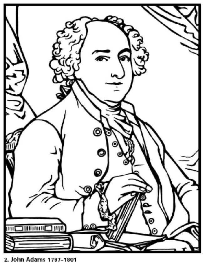 662x861 Free Coloring Pages For Kids John Adams Our President Click