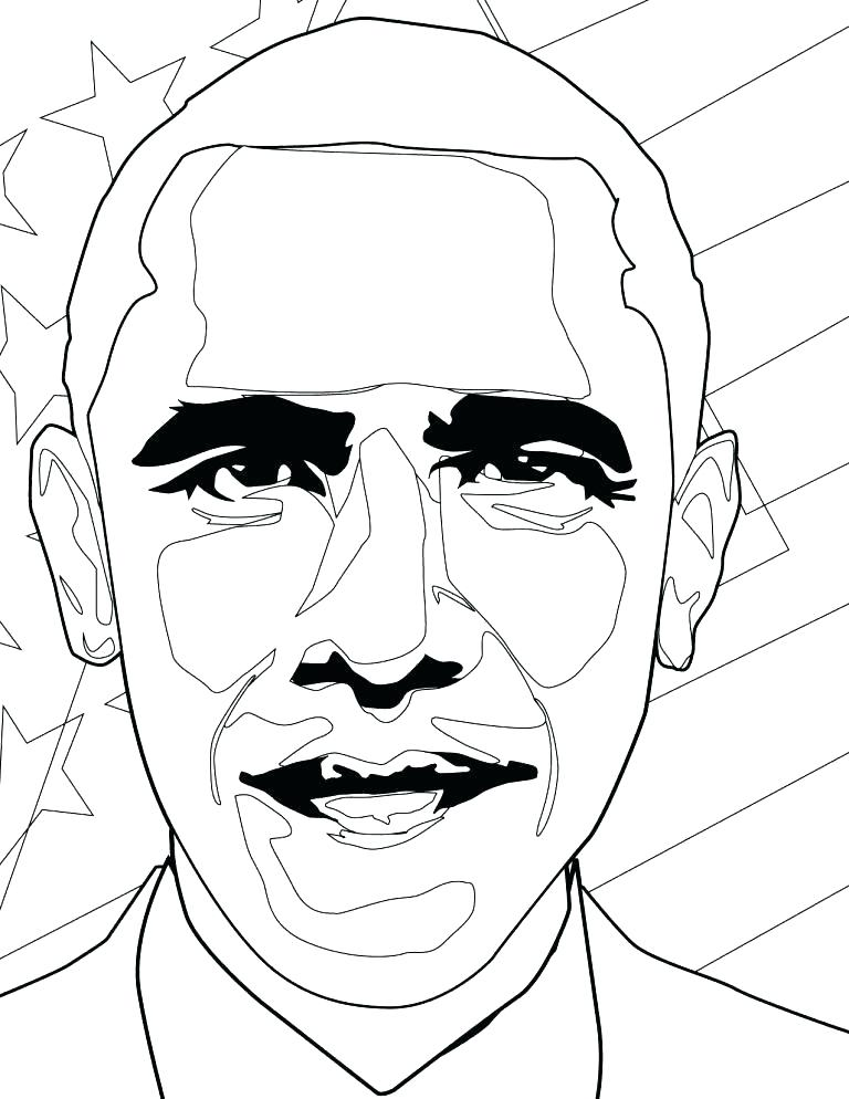 768x994 President Obama Coloring Page Coloring Pages Coloring Sheet