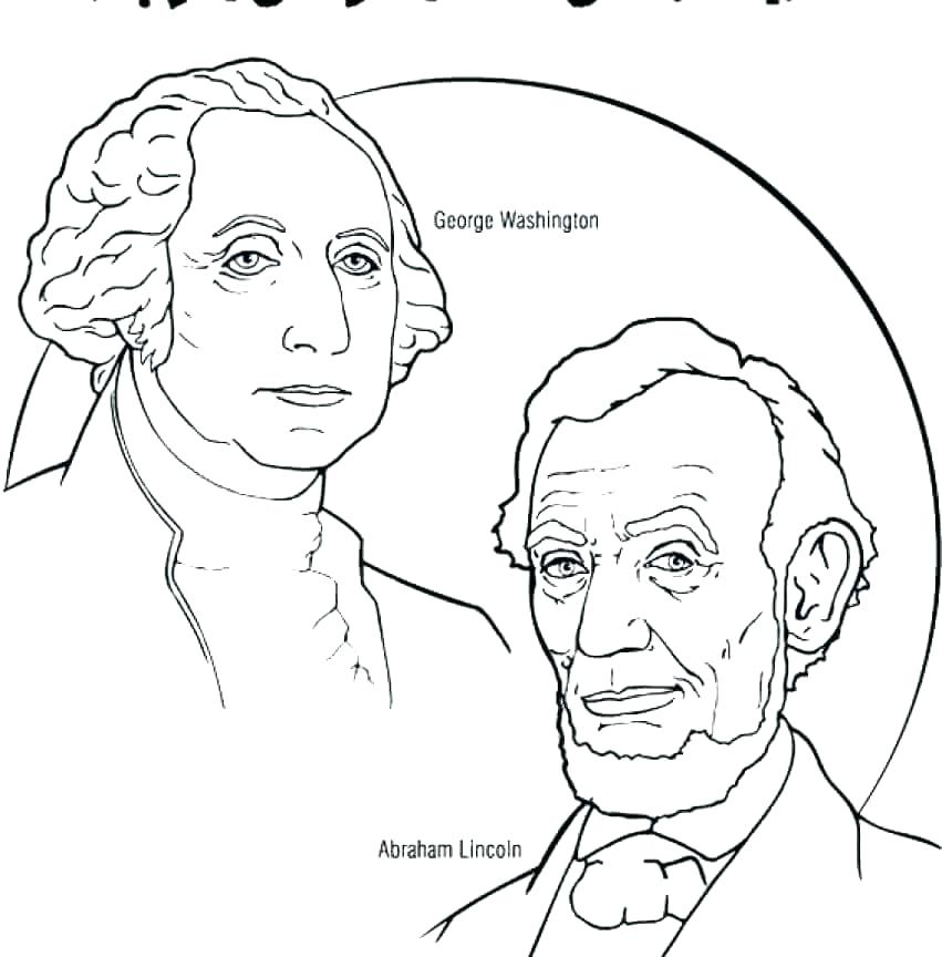 851x864 Presidents Coloring Pages Presidents Day Coloring Pages Beauteous