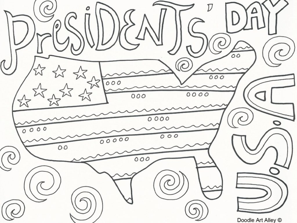 1024x768 Presidents Day Coloring Pages Free Of Printable Adult Preschool Us