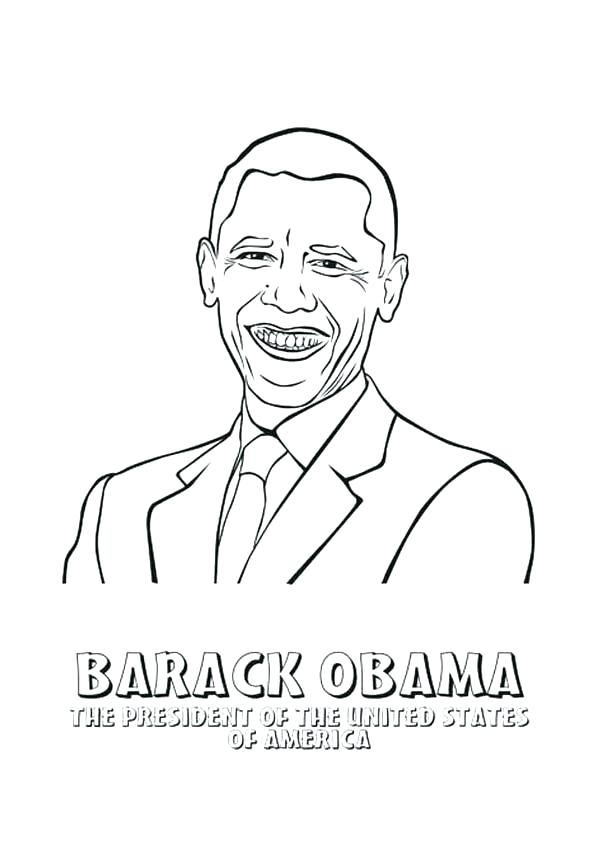 600x862 Barack Obama Coloring Page Coloring Pages President Of The United