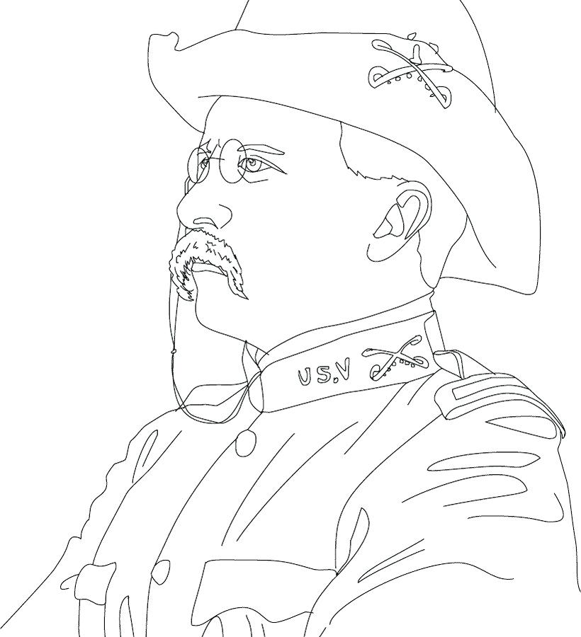 820x900 Coloring Pages Of Presidents Coloring For Kids Trump Page