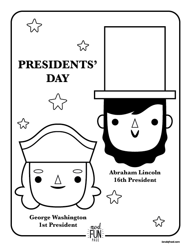 612x792 Nod Printable Coloring Page Presidents Day Honest To Nod