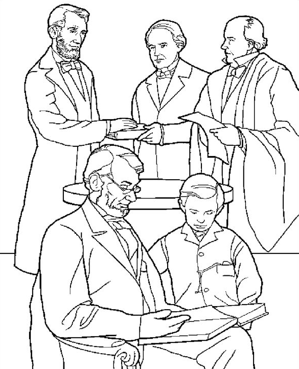 585x721 Presidents Day Coloring Pages