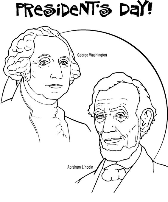 564x678 Presidents Day Coloring Pages George Washington And Abraham