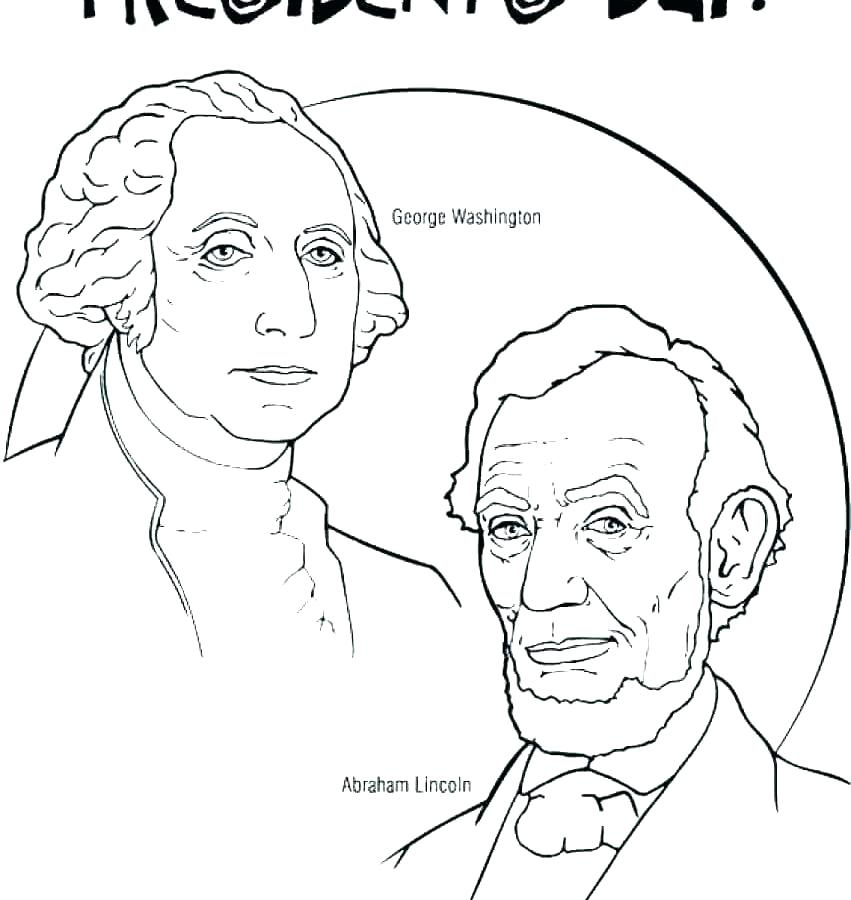 851x900 Presidents Day Coloring Pages Printable Free Printable Presidents