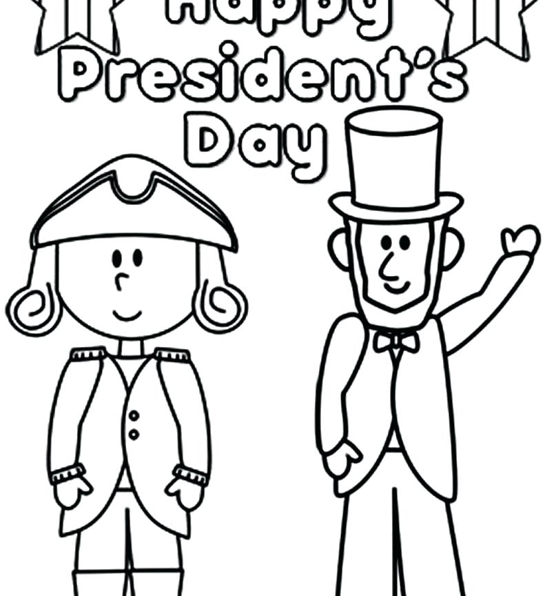 791x864 Coloring Pages President Frightening For Kids Presidents Day
