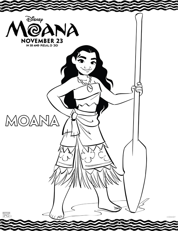 600x776 Free Printables Disney Moana Coloring Pages