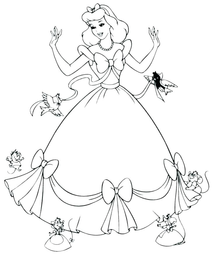 734x875 Princess Coloring Pages Free To Print Pictures Printable Disney