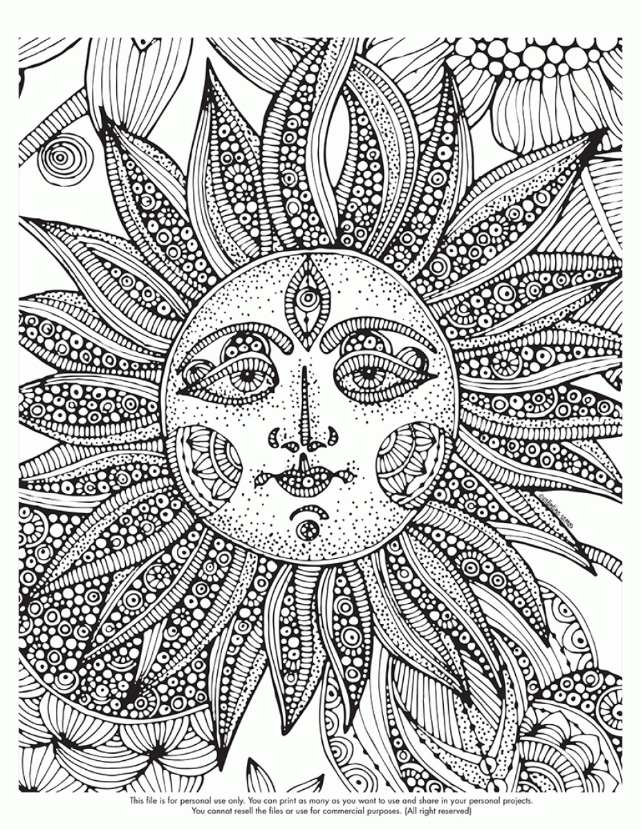 927x1200 Free Printable Abstract Coloring Pages For Adults Within Art Qqa