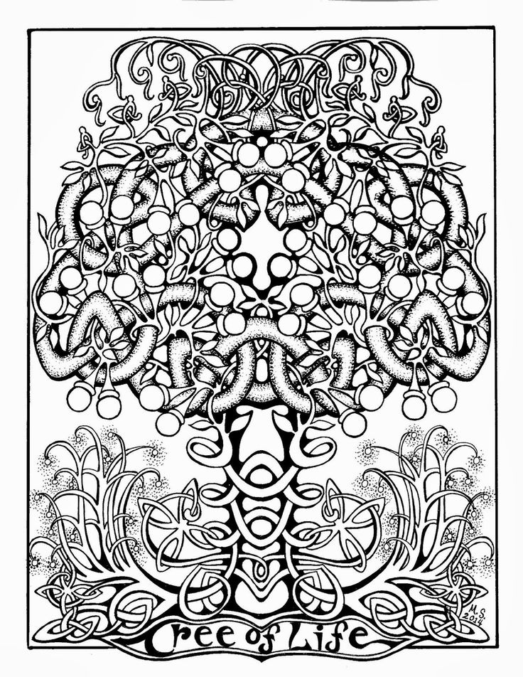 736x952 Free Printable Abstract Tree Of Life Coloring Pages
